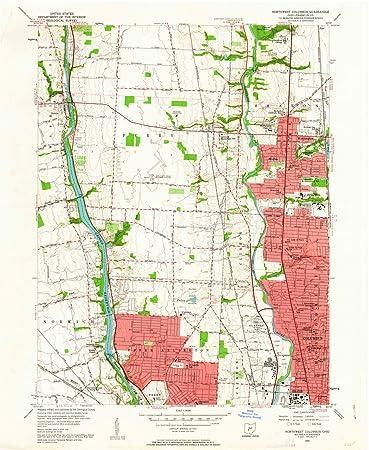 Amazon.com: Historic Pictoric - Ohio Maps - 1955 Northwest ...