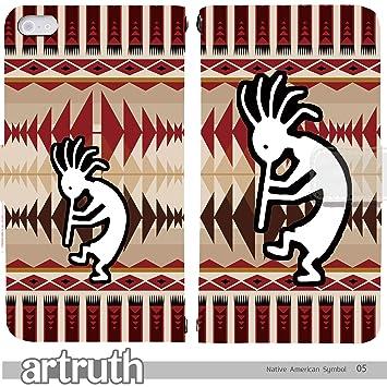 b2f78f0425 Native American Symbol Kokopelli 手帳型 iPhoneSE (iPhone SE) iphoneSE(G007701_05)  専用