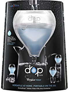 EveryDrop by Whirlpool Water DBWL2SM1 Portable Water Filter with 1 Replacement Filter, Blue