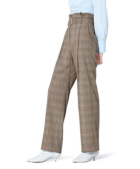 a332eb4cf9c FIND Pantalon Taille Haute à Carreaux Femme  Amazon.fr  Vêtements et  accessoires