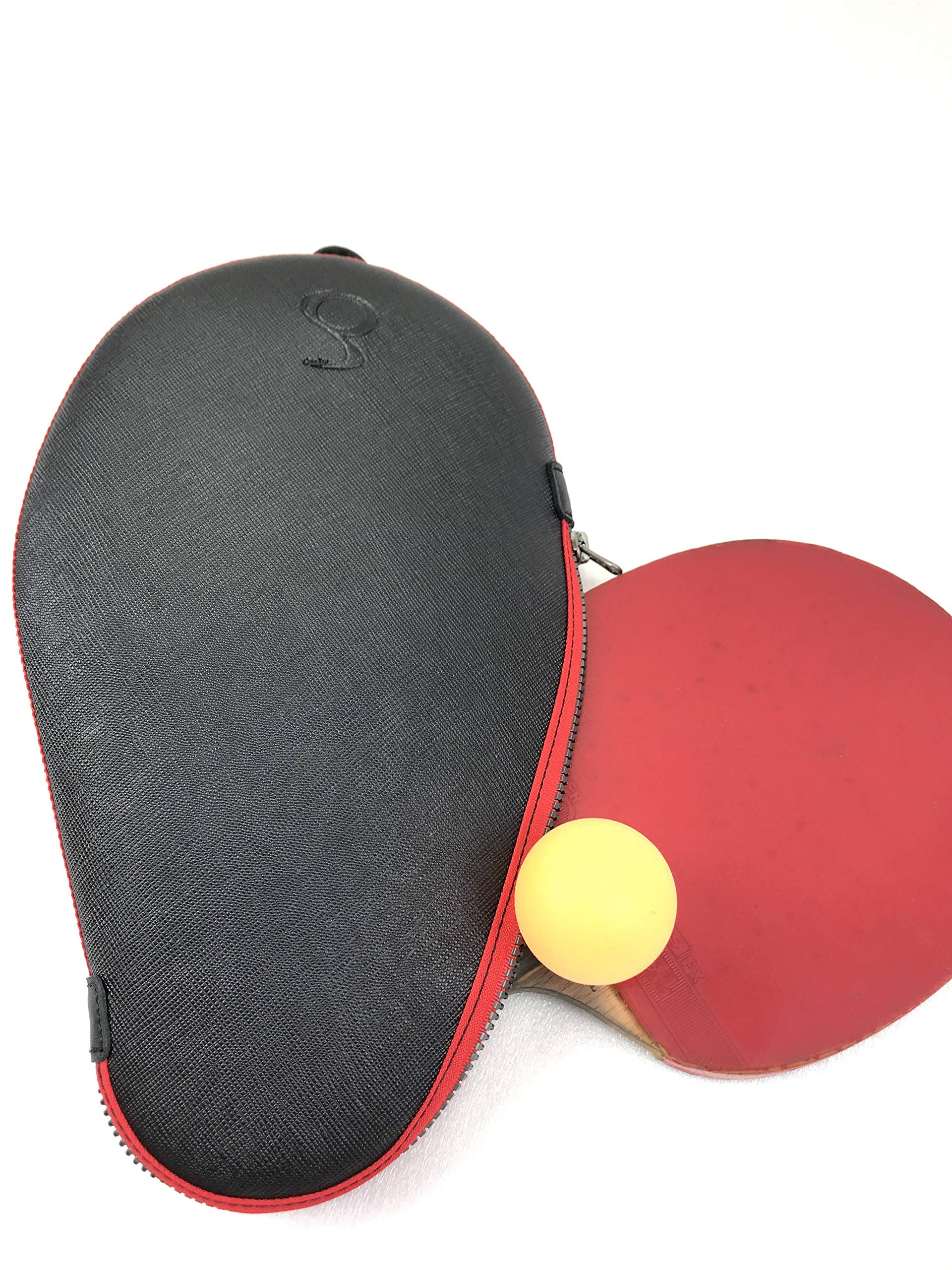 ONEJOY Ping Pong, Table Tennis Racquet Bag,Case,Cover with Zipper AJ61,Loop to Hook, Full Cover 28cm x 17cm for 1 Racquet/Racket/Paddle. by ONEJOY (Image #3)