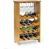 Relaxdays 10013871 Cantinetta per Vino, Metallo, Marrone, 24x50x84 cm
