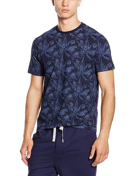 Cortefiel CAMISETA DIBUJO M/C CUELL - Camiseta de pijama para hombre, color azul