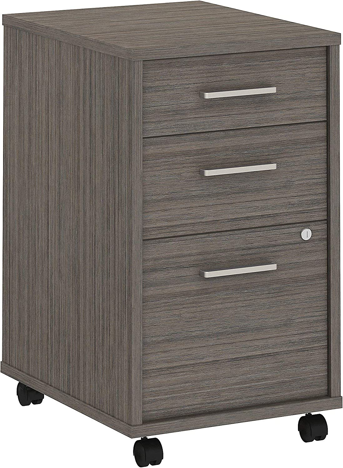 Bush Business Furniture Office by kathy ireland Method 3 Drawer Mobile File Cabinet - Assembled, Cocoa