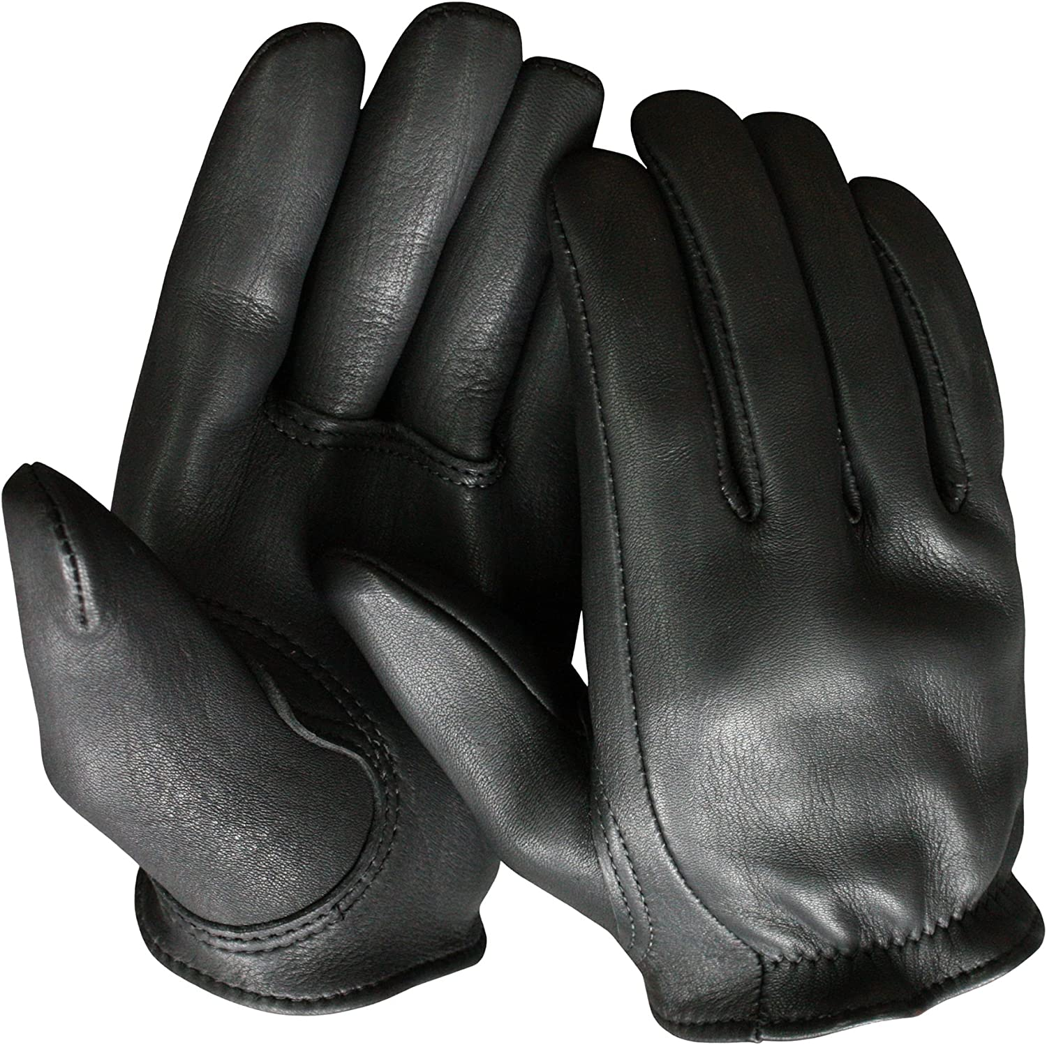 Real Hide Leather Driving Tactical Police Motorcycle Shop Gloves Large-XLarge