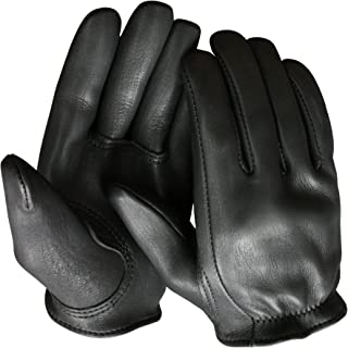 product image for Churchill Classic Short Wrist Deerskin Motorcycle Gloves Made in America Black (XXXL)