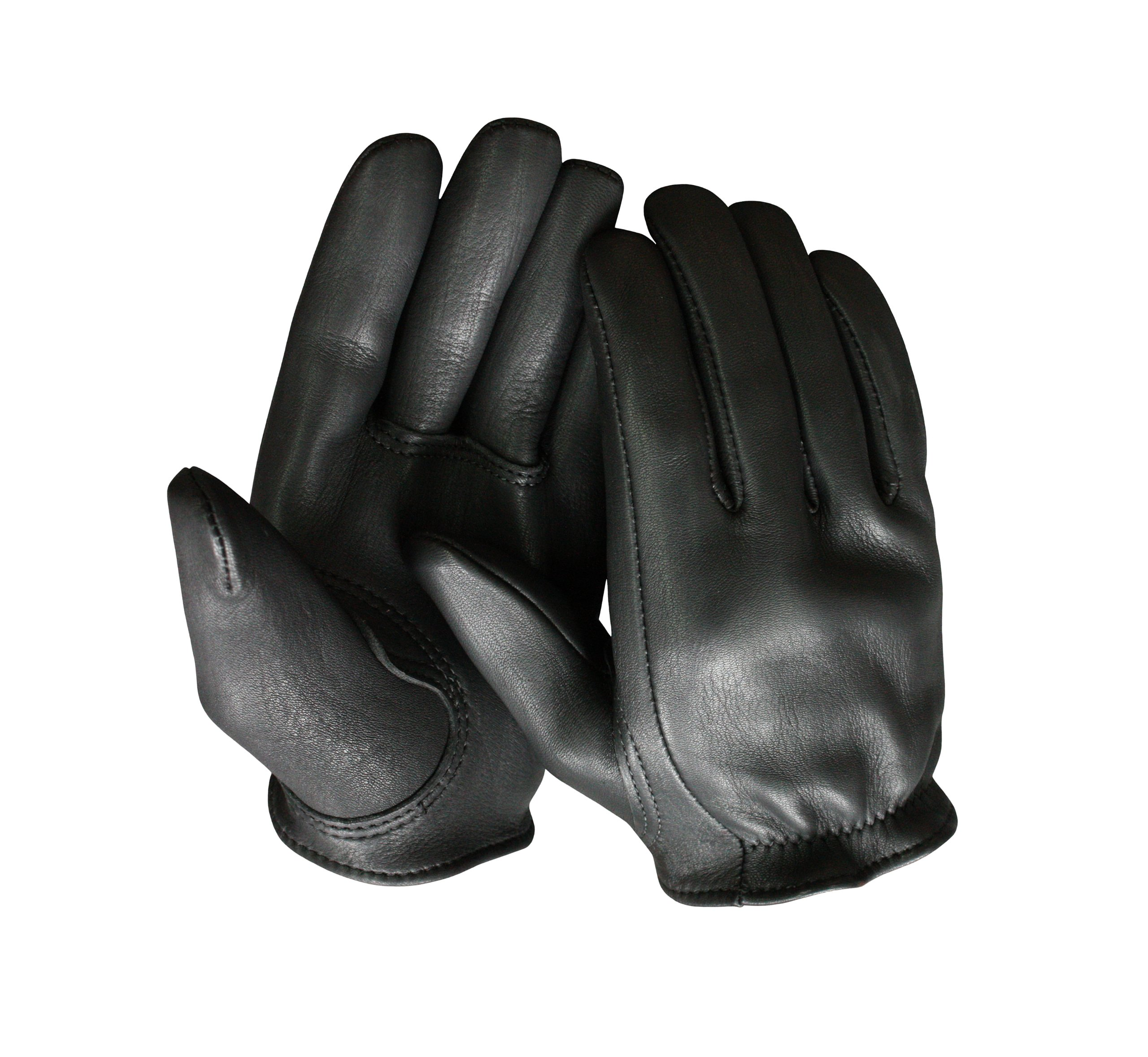 Churchill Classic Short Wrist Deerskin Motorcycle Gloves Made in America Black (Large)