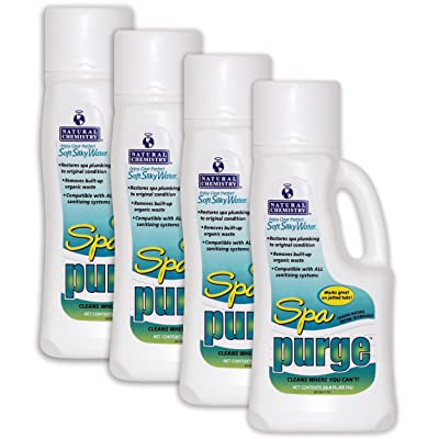 Natural Chemistry Spa Purge Spa Plumbing Cleaner - 4 x 1 Liters : Garden & Outdoor