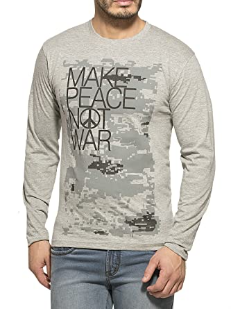 21856901bcc0 Alan Jones Clothing Men's Cotton T-Shirt (Stc-Peace-P): Amazon.in ...
