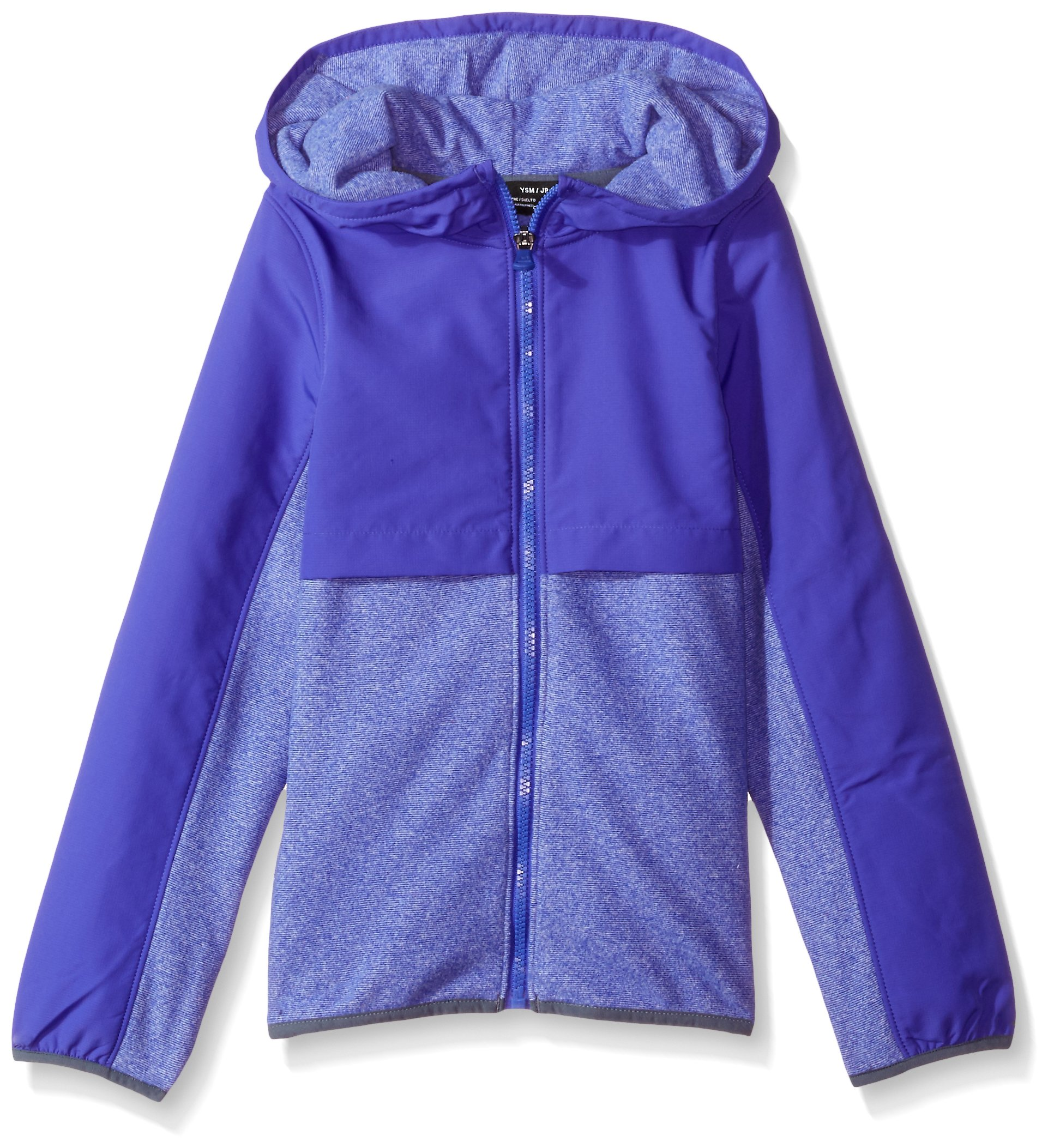 Girl's Under Armour Girls' Phenom Fleece Full Zip,Constellation Purple /Apollo Gray, Youth Small by Under Armour