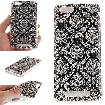 Qiaogle Teléfono Caso - Funda de TPU silicona Carcasa Case Cover para ZTE Blade V6 Max / Blade A610 (5.0 Pulgadas) - TX30 / Totem flor