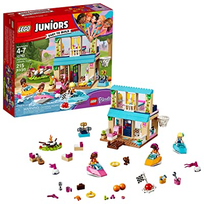 LEGO Juniors Stephanie's Lakeside House 10763 Building Kit (215 piece): Toys & Games
