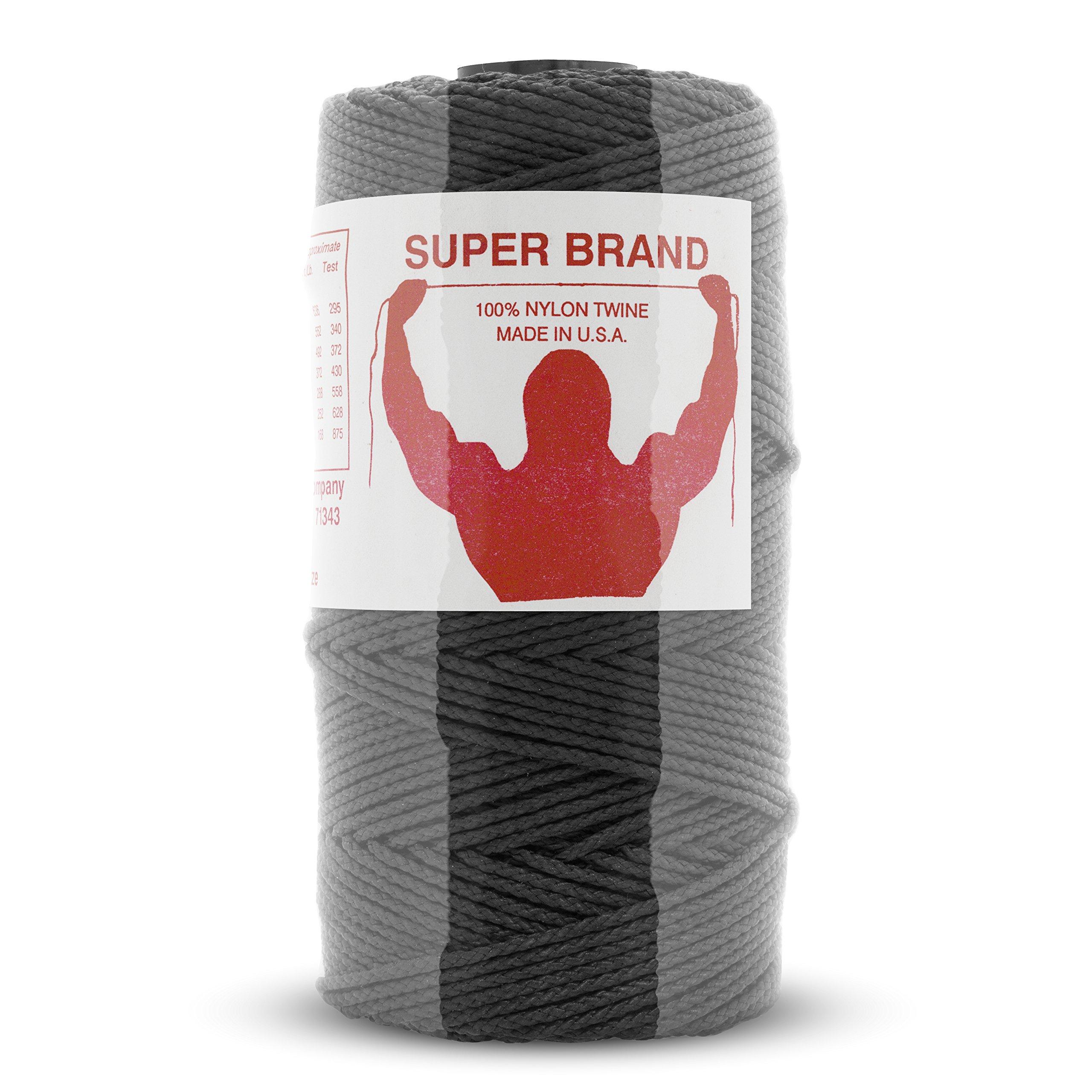 Tarred (Black) Nylon Twine, Braided. Size #48, 1 lb 1-pack