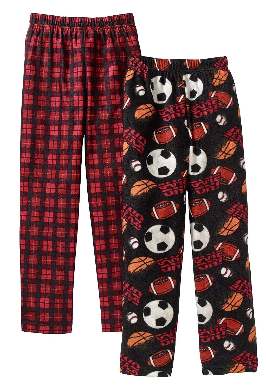 af147c92 2 Pack Boys Sleep Pants 100% Polyester Elastic Waistband Micro Fleece Lot  of 2 Faded Glory ...
