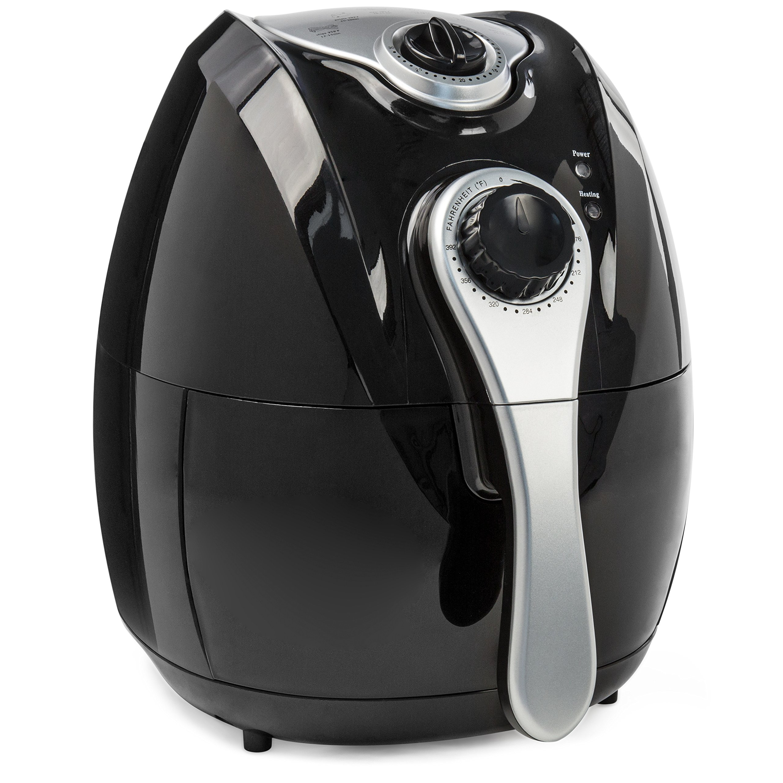 Best Choice Products 4.4qt Electric Air Fryer w/Rapid Air Circulation, Temp. Control, Timer, Detachable Handles - Black