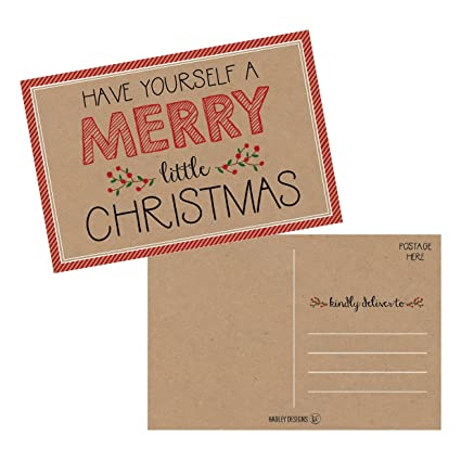 Amazon 50 kraft holiday greeting cards cute fancy blank 50 kraft holiday greeting cards cute fancy blank winter christmas postcard set bulk pack m4hsunfo