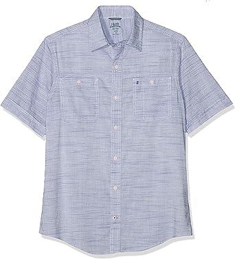Izod Dockside Chambray Slub SS Shirt Camisa Casual para Hombre