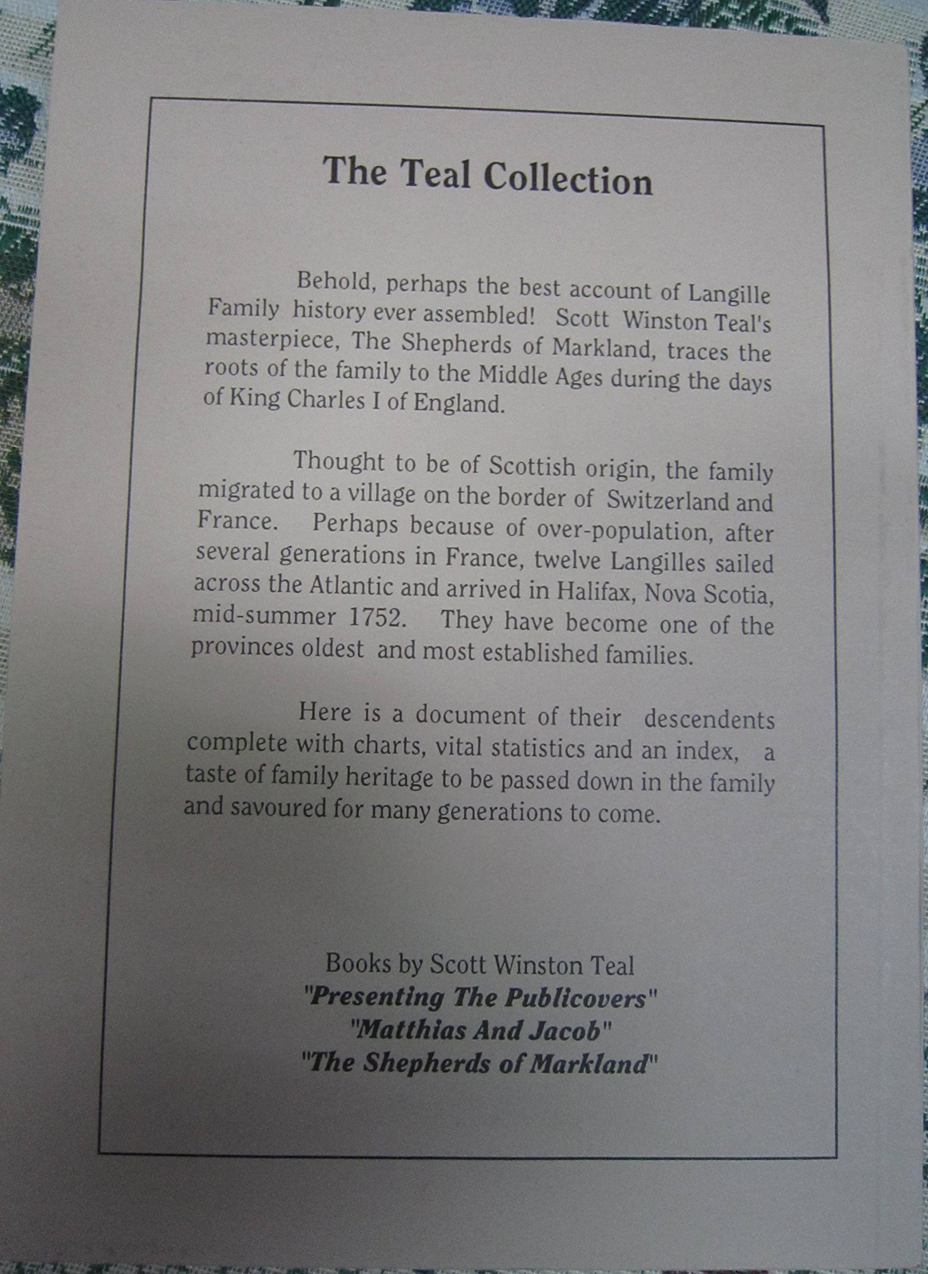 3 the shepherds of markland 1991 langille genealogy scott 3 the shepherds of markland 1991 langille genealogy scott winston teal 9780969785217 amazon books aiddatafo Gallery