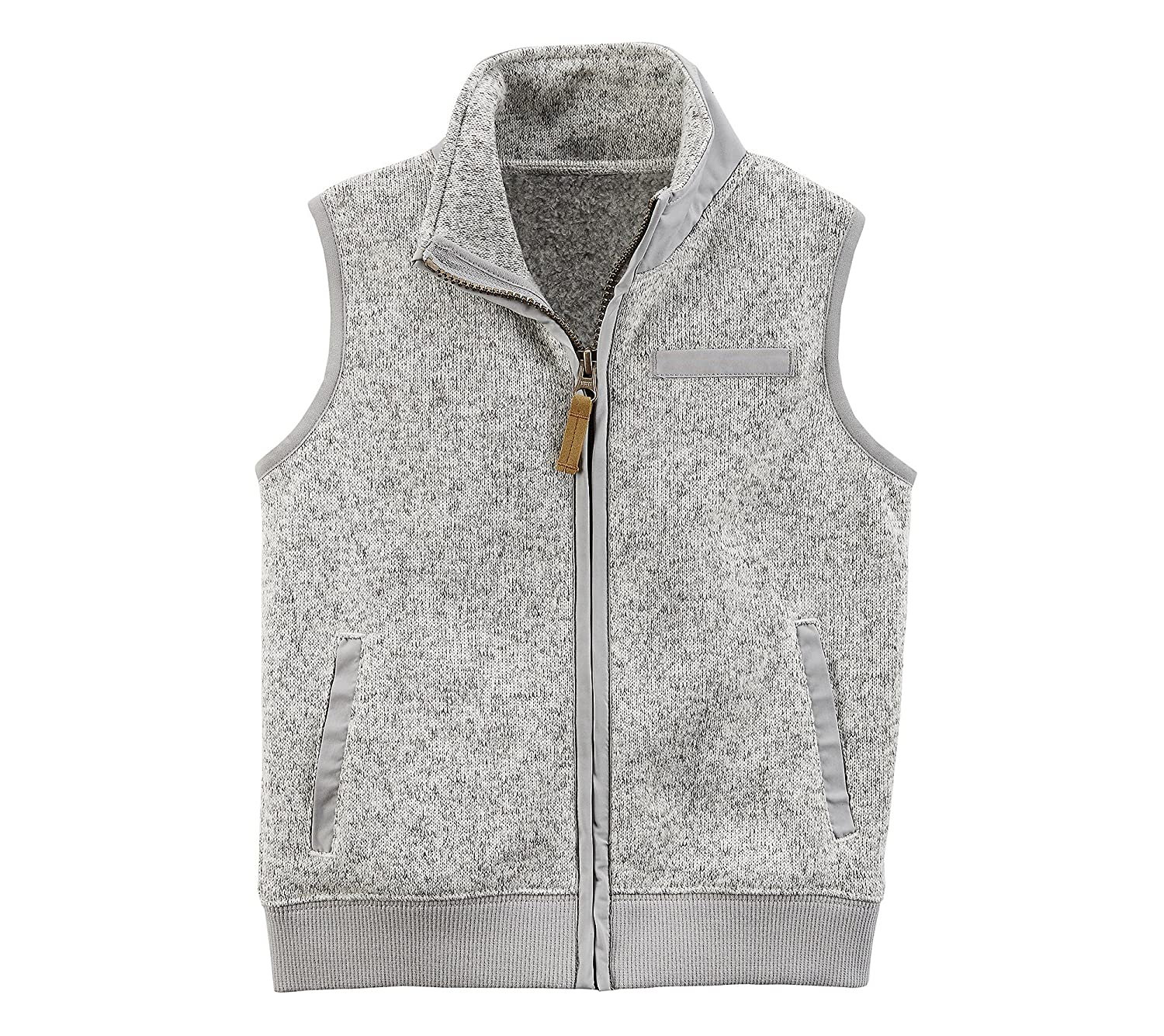 Carter's Boys' 2T-8 Zip Up Sweater Vest 263H179