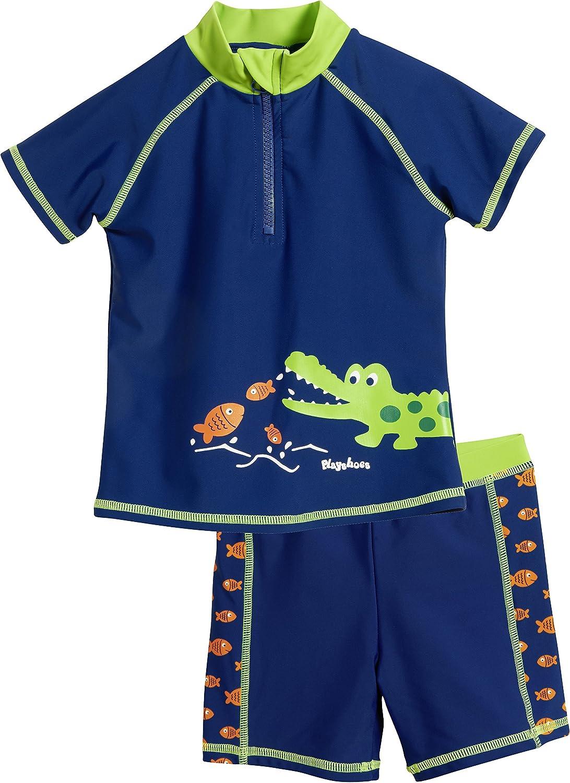 Playshoes UV-Schutz Bade-Set Krokodil, Costume da Bagno Bambino 461162