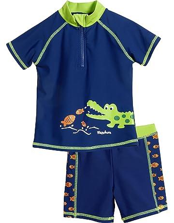 5bbbfe71 Playshoes UV-Schutz Bade-Set Krokodil Bañador para Niños