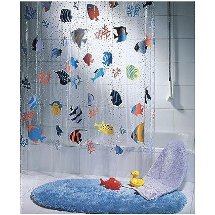 Spread Spirella Peva Waterproof Polyethylene Shower Curtain Multicolour (180x200 cm)