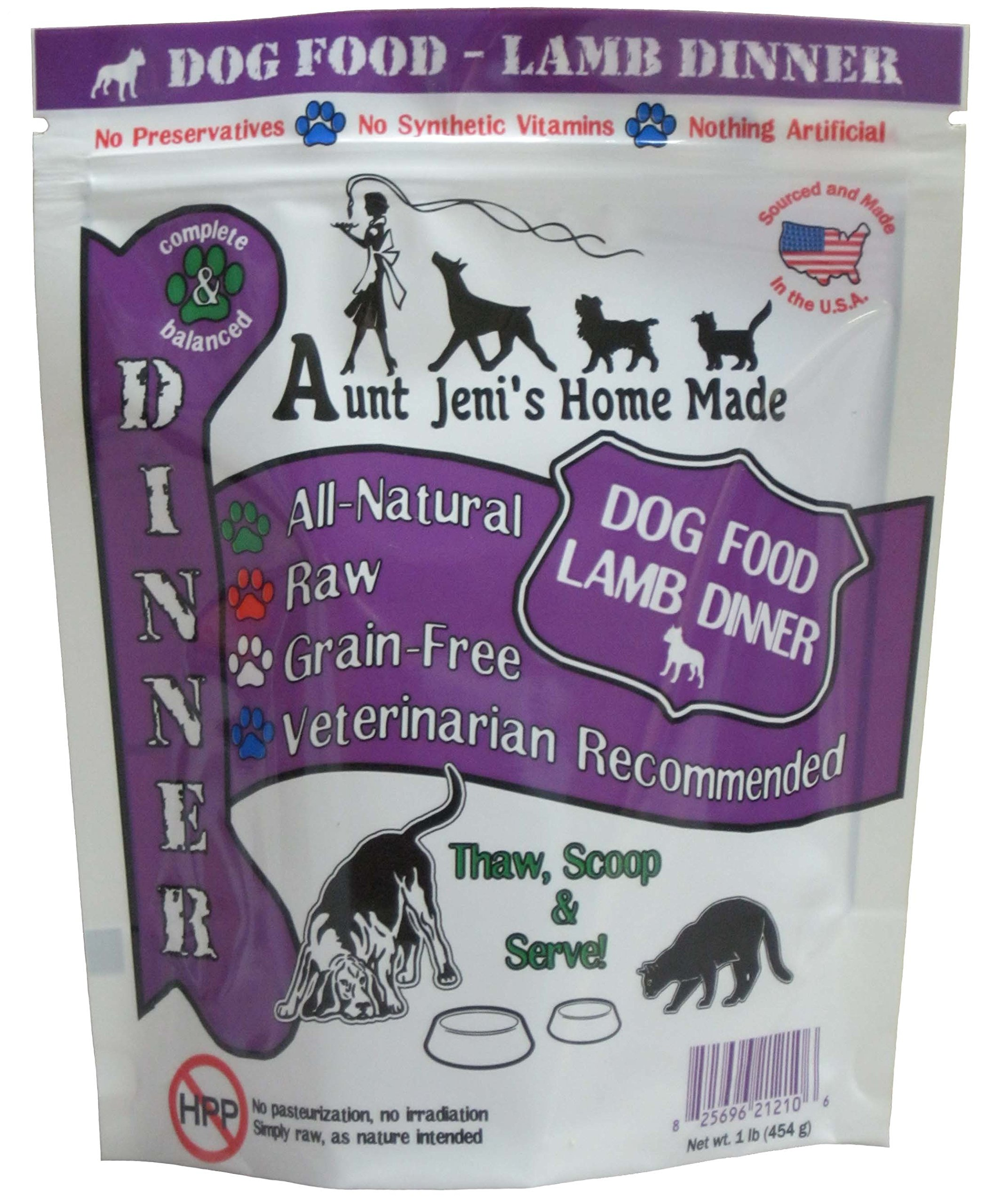 Aunt Jeni's Home Made Frozen Pet Food, Dog Food Lamb Dinner, 20 lb. by Aunt Jeni's Home Made