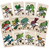 Heirloom Vegetable Seeds Kit 13 Pack – 100% Non GMO for Planting in Your Indoor or Outdoor Garden: Tomato, Peppers, Zucchini,