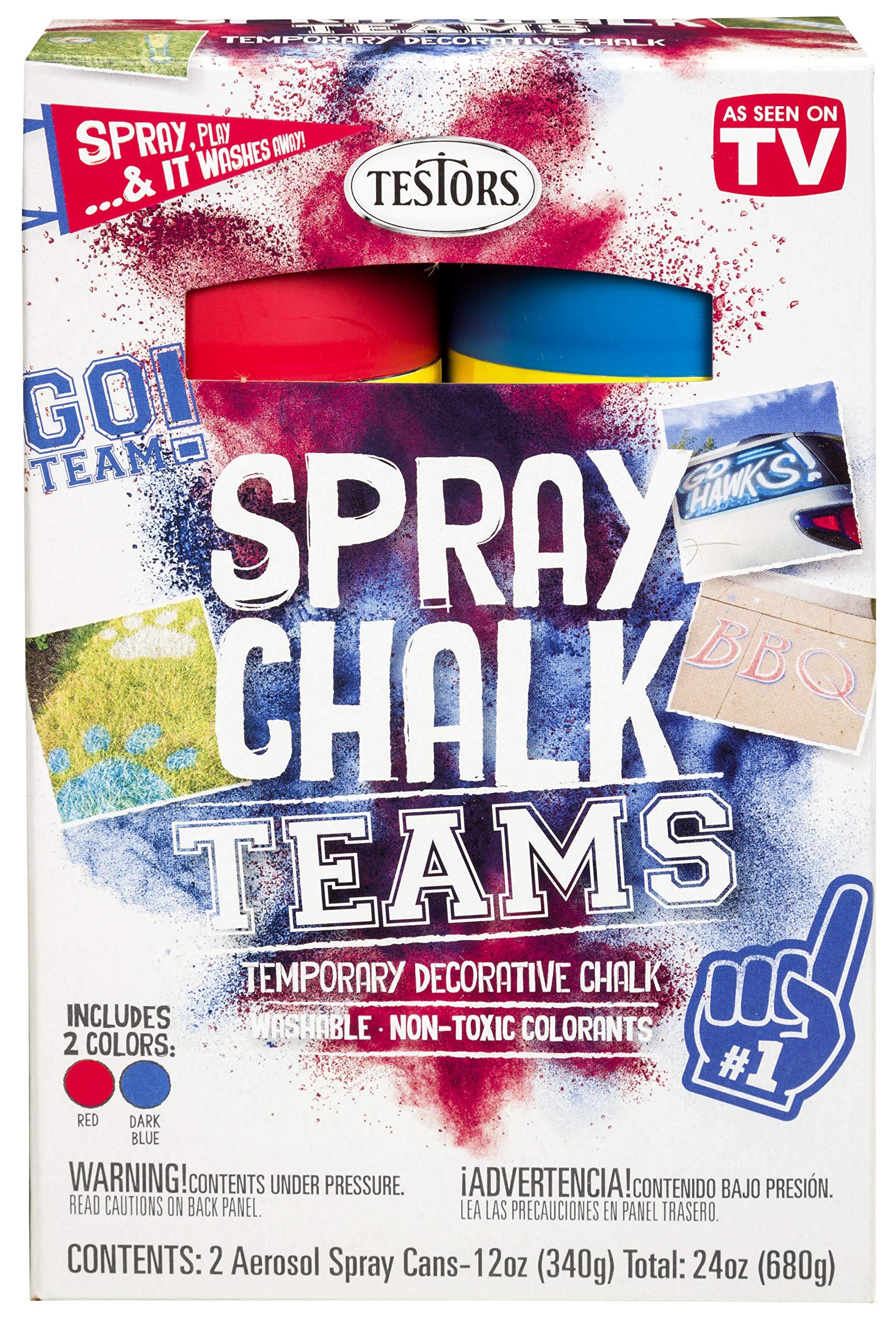 Testors 334341 Teams Spray Chalk, Red/Dark Blue by Testors