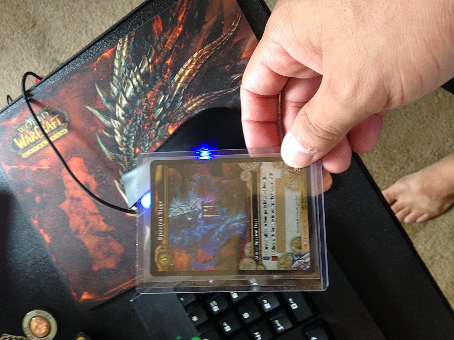 Spectral Tiger In Game Mount Unscratched Loot Card World of Warcraft  Collecti
