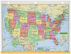Kappa Maps United States/World Notebook Map