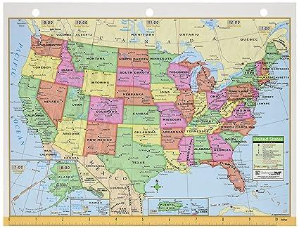 Amazon.com : UNI15024 - US amp; World Notebook MAP 8-1/2 X 11 : Wall ...