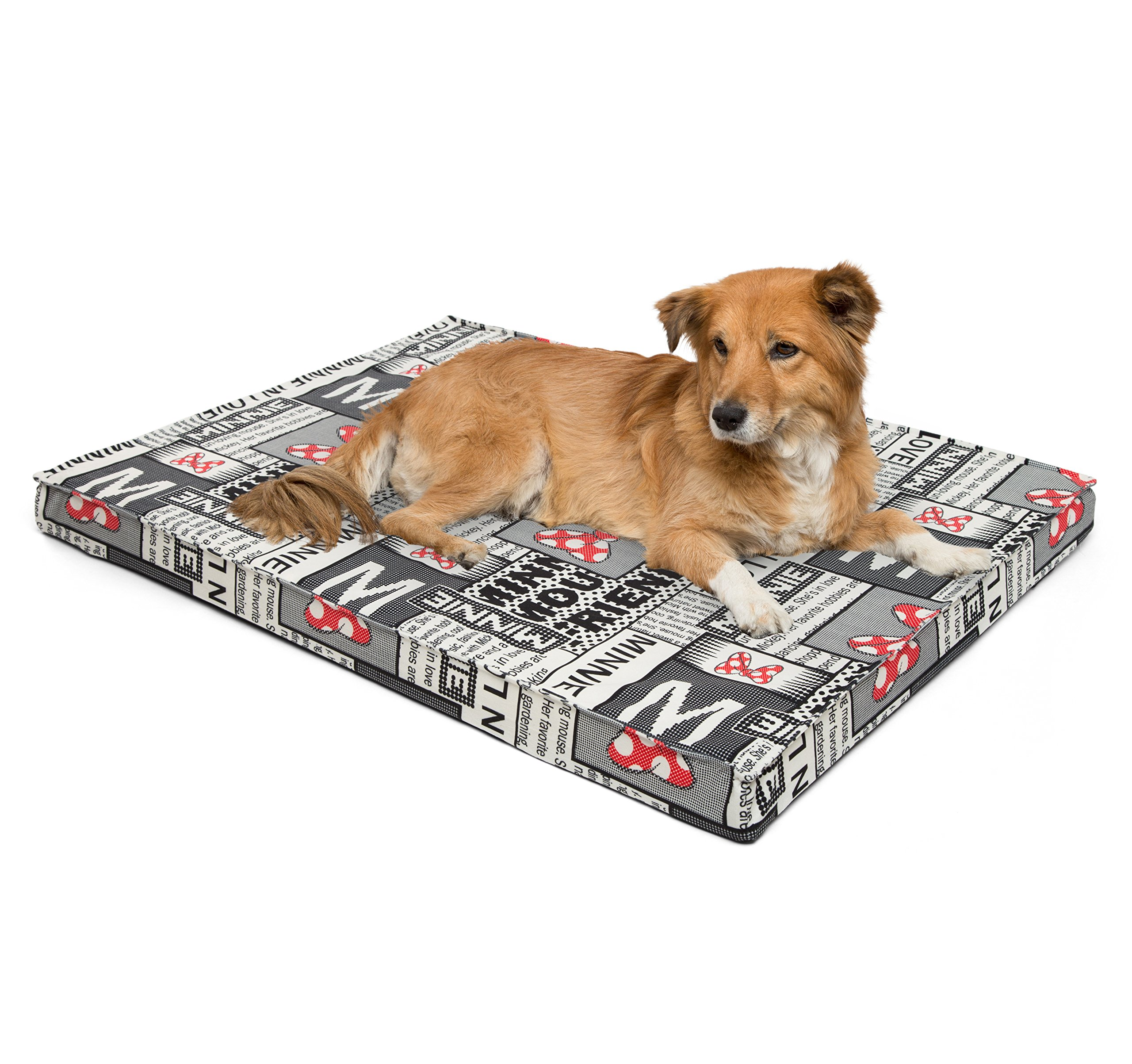 Disney Joint Relief Nap Mat in Minnie Newspaper, Black, 2.5'' (Dog/Cat Bed)