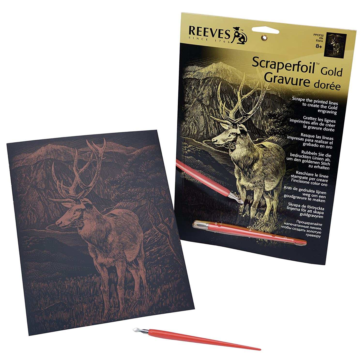 Reeves Scraperfoil-Medium Gold-Horse