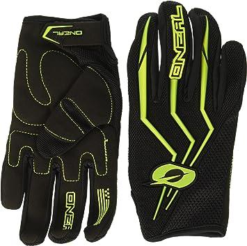 O Neal Motocross Handschuhe Mx Mtb Mountainbike Enduro Motorrad Sichere Passform Ergonomische Polsterung Tpr Streifen Element Glove Erwachsene Schwarz Oneal Auto