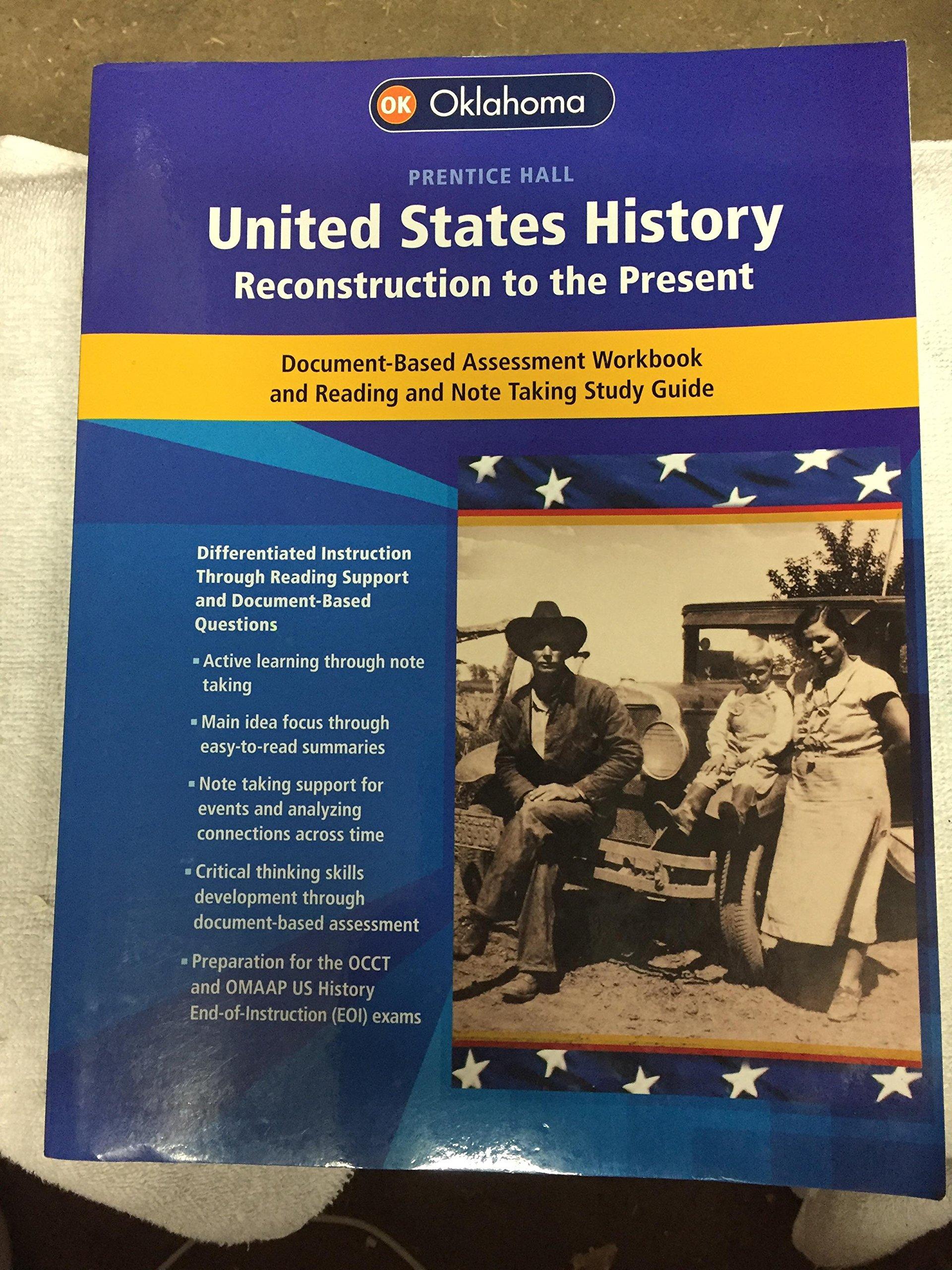 United States History Reconstruction to the Present: Oklahoma: Pearson  Prentice Hall: 9780133242096: Amazon.com: Books
