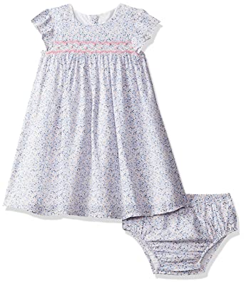 bc1c41234970b Mothercare Baby Girls' Blue Ditsy Smock Dress and Bloomer Set Pink 130, 3-