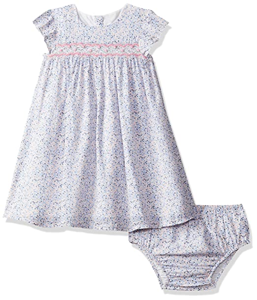 09bb41718 Mothercare Baby Girls  Blue Ditsy Smock Dress and Bloomer Set ...