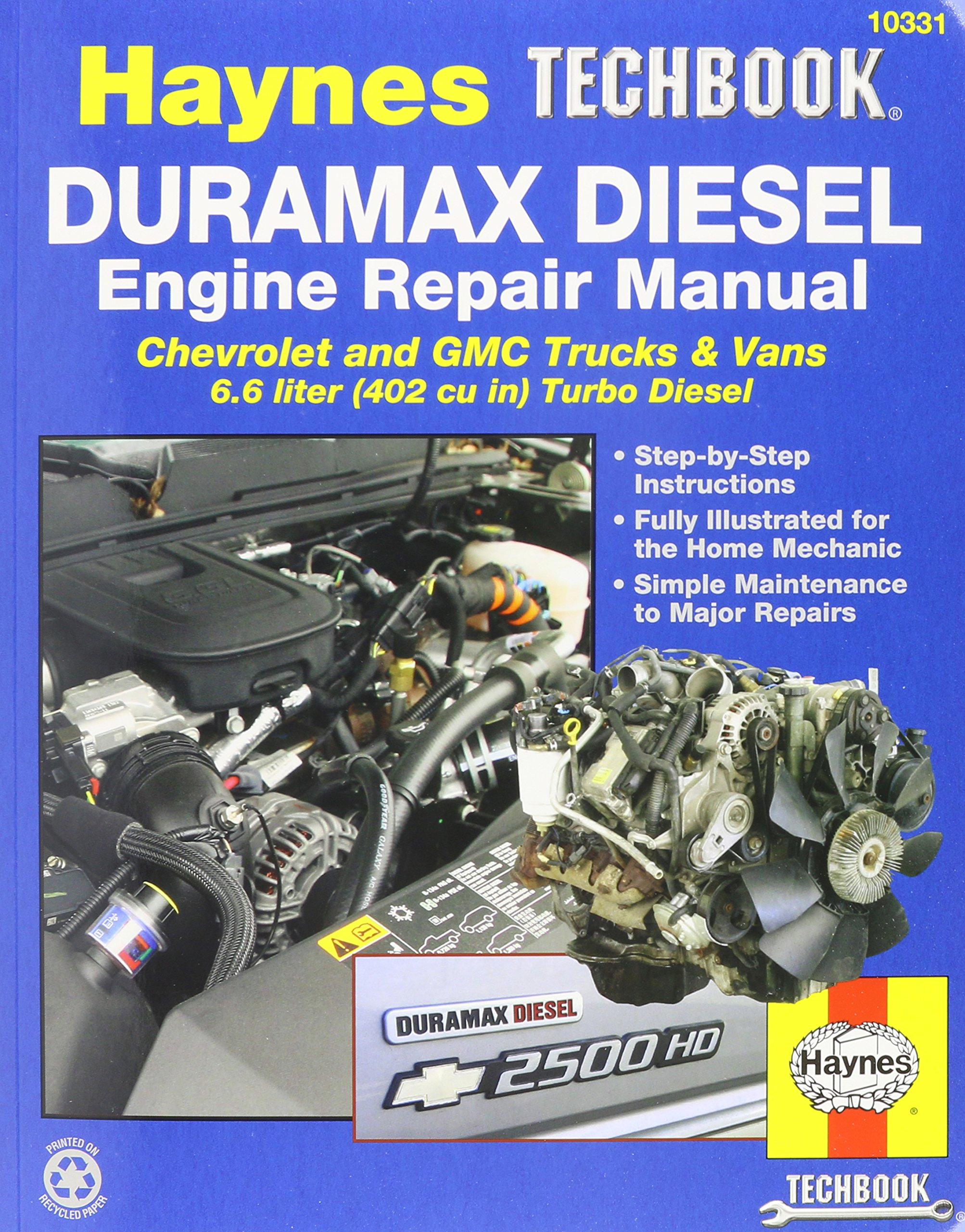 Haynes Techbook Duramax Diesel Engine Repair Manual 2001-2012: Amazon.com:  Books