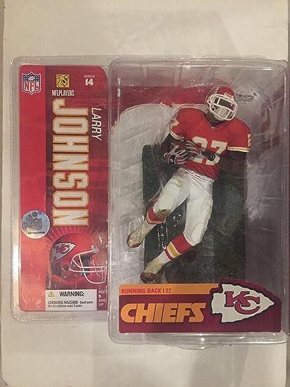 red jersey NFL series 14 McFarlane figure Larry Johnson Kansas City Chiefs