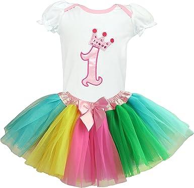 Dancina Set de Falda Tutú y Camisa para Primer Cumpleaños Bebés 9 ...