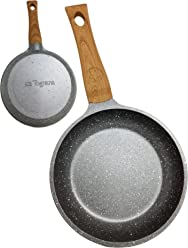 Squre, Brot, Schwarz, Grau, Aluminium, Aluminium, 4/mm Tognana Porcellane wi758baamnf Squre Grill Pan/ /Pfannen