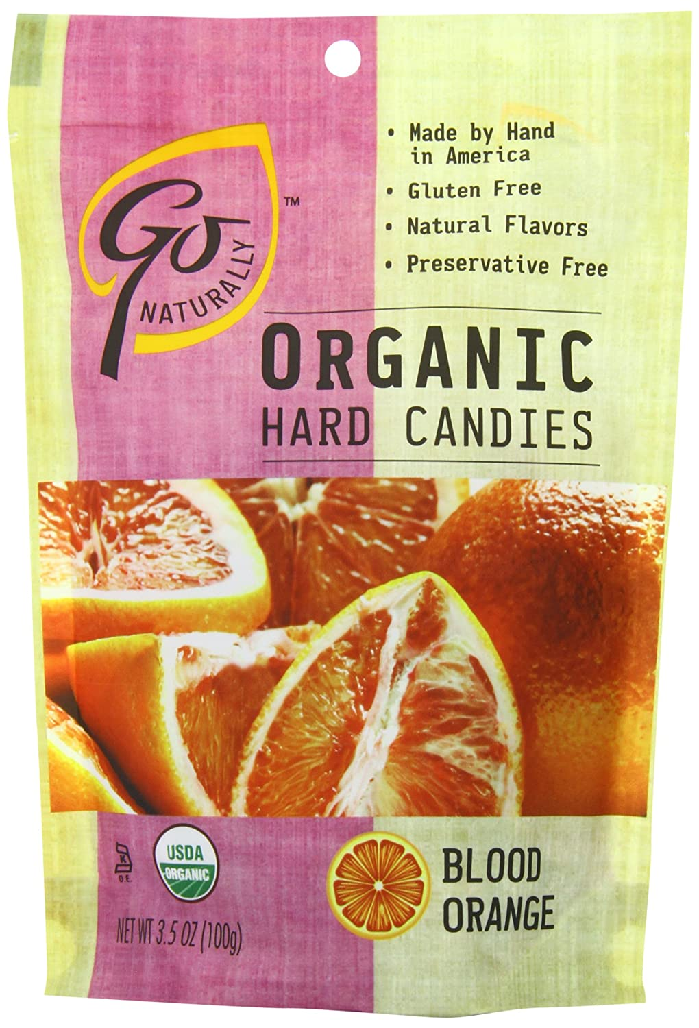 Go Naturally Hard Candy, Blood Orange, 3.5 Ounce (Pack of 6)