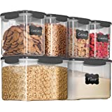 12-Piece Airtight Food Storage Containers With Lids - BPA-FREE Plastic Kitchen Pantry Storage Containers - Dry-Food-Storage C