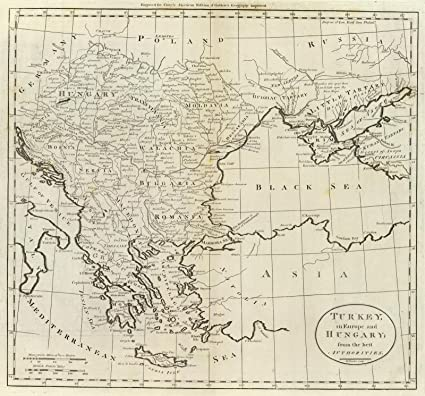 world atlas 1796 turkey in europe and hungary historic antique vintage map