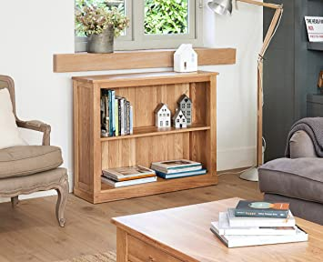 baumhaus mobel oak low bookcase roll over image to zoom in