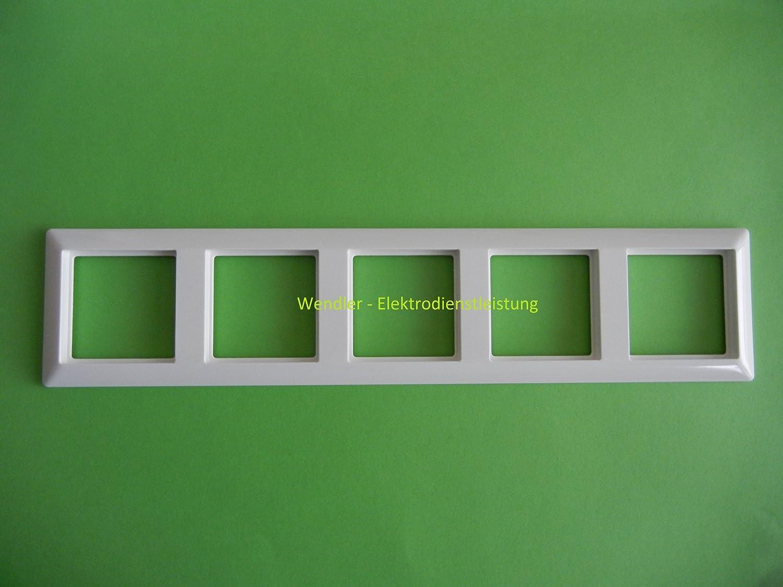 Jung AS585WW - Embellecedor para 5 enchufes: Amazon.es: Bricolaje y herramientas