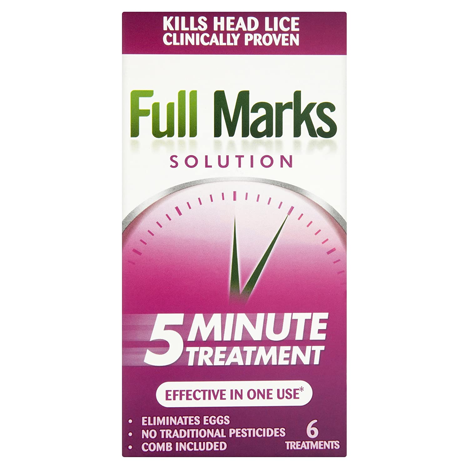Full Marks Head Lice Solution, 2 Treatments, 100 ml 5038483224410