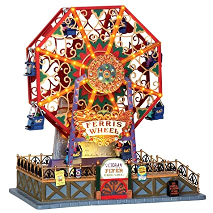 lemax 34618 victorian flyer ferris wheel christmas village carnival ride