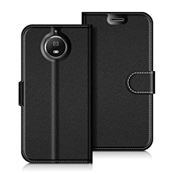 buy online 804f1 9af4b COODIO Motorola Moto G5S Case, Motorola Moto G5S Leather Case, Motorola  Moto G5S Wallet Case, Magnetic Closure Flip Folio Case Cover [Wallet Stand]  ...